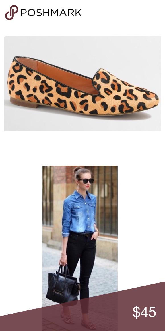 J. CREW Leopard Loafers   Leopard