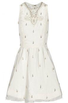 77505732995 Alice Olivia Gilda embellished crepe mini dress