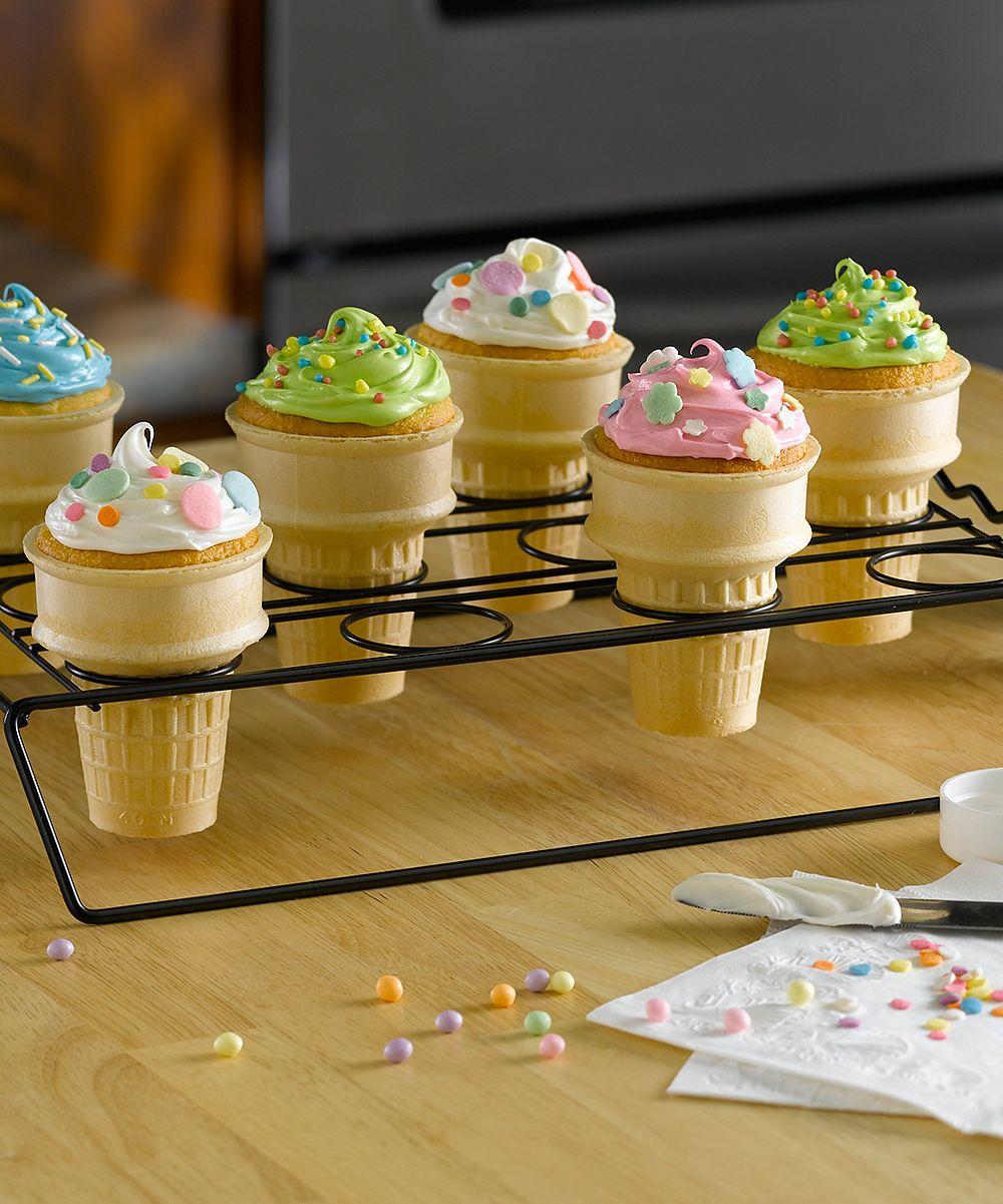 Nonstick Cupcake Cone Baking Rack Bake And Serve Cupcake