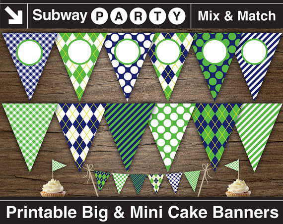 Printable Golf Party Banner and Mini Cake Bunting. Navy Blue, Green on golf party desserts, golf party accessories, golf party gifts, luau printables, golf party cards, golf themed party centerpieces, golf party slogans, golf theme party supplies, golf wrapping paper printable, county fair printables, golf bridal shower,