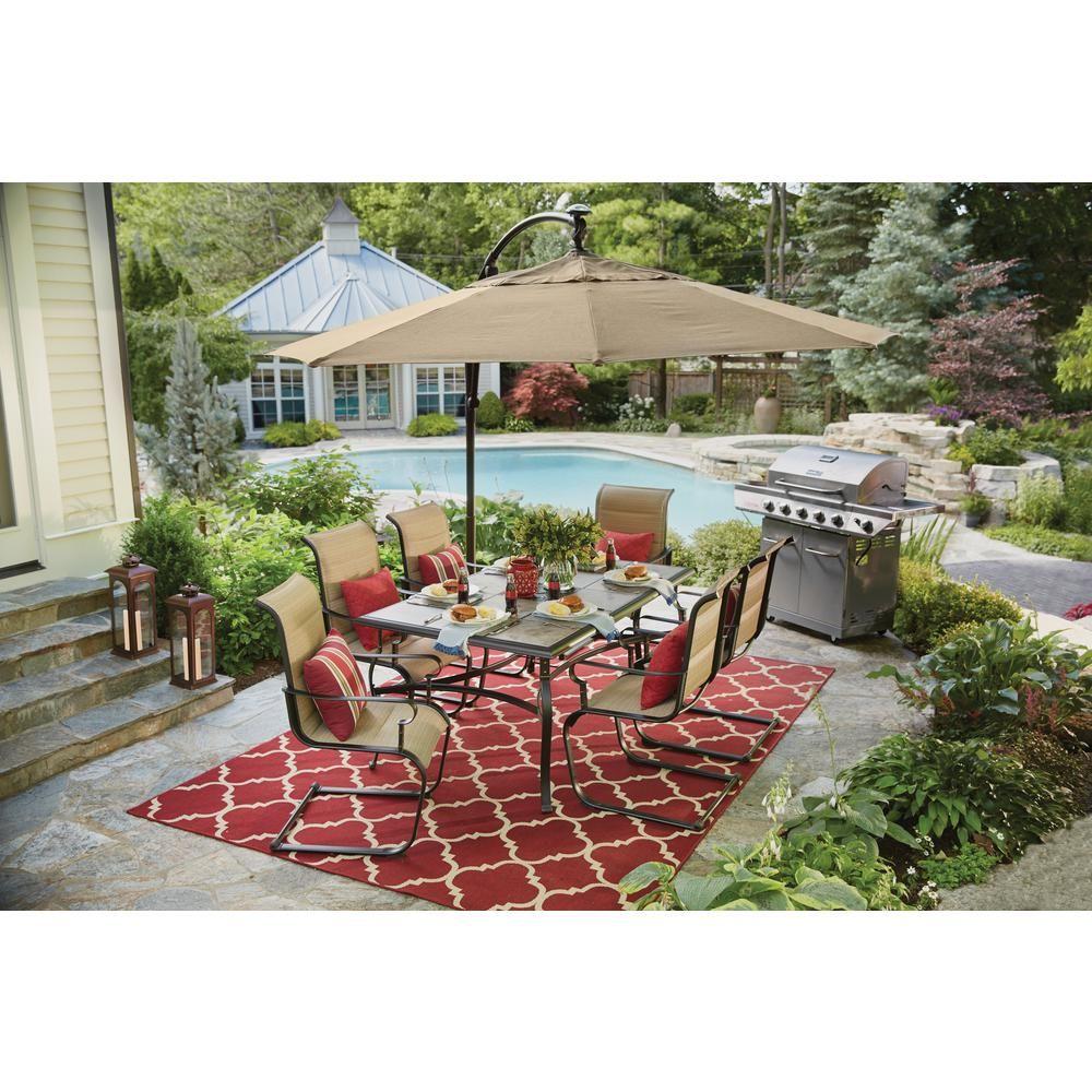22+ Hampton bay belleville 7 piece padded sling outdoor dining set Various Types