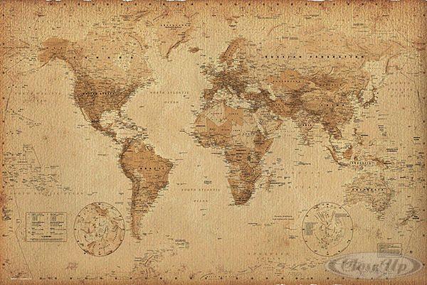 mapa mundi retrô tumblr - Pesquisa Google mapas Pinterest - new google world map printable