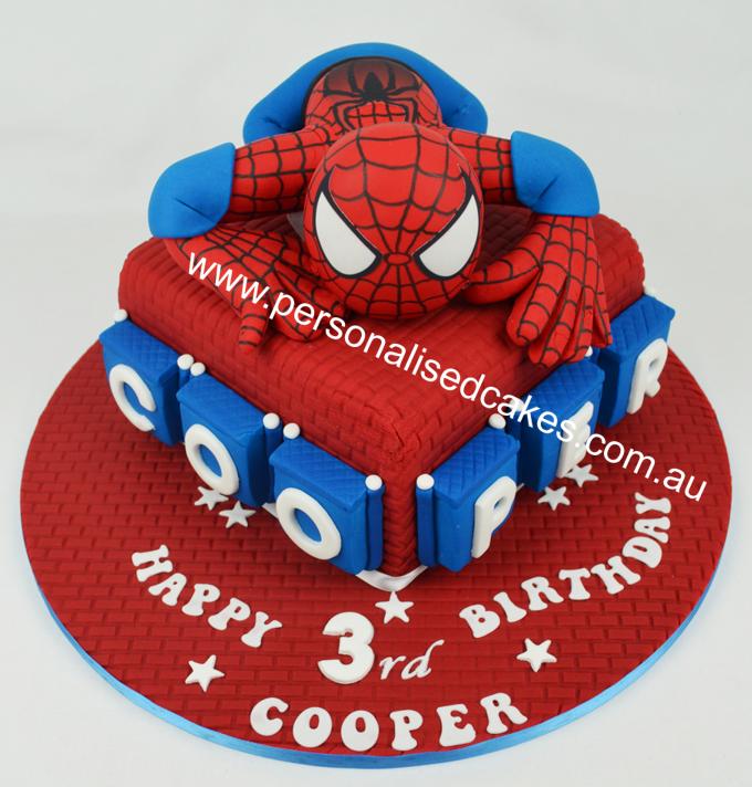 SpiderMan Birthday Cakes birthdaycakespidermancakekids