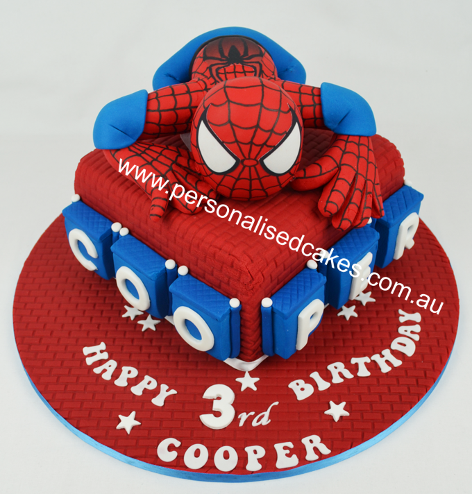 Groovy Kids Birthday Cakes Spiderman Top Birthday Cake Pictures Photos Birthday Cards Printable Benkemecafe Filternl