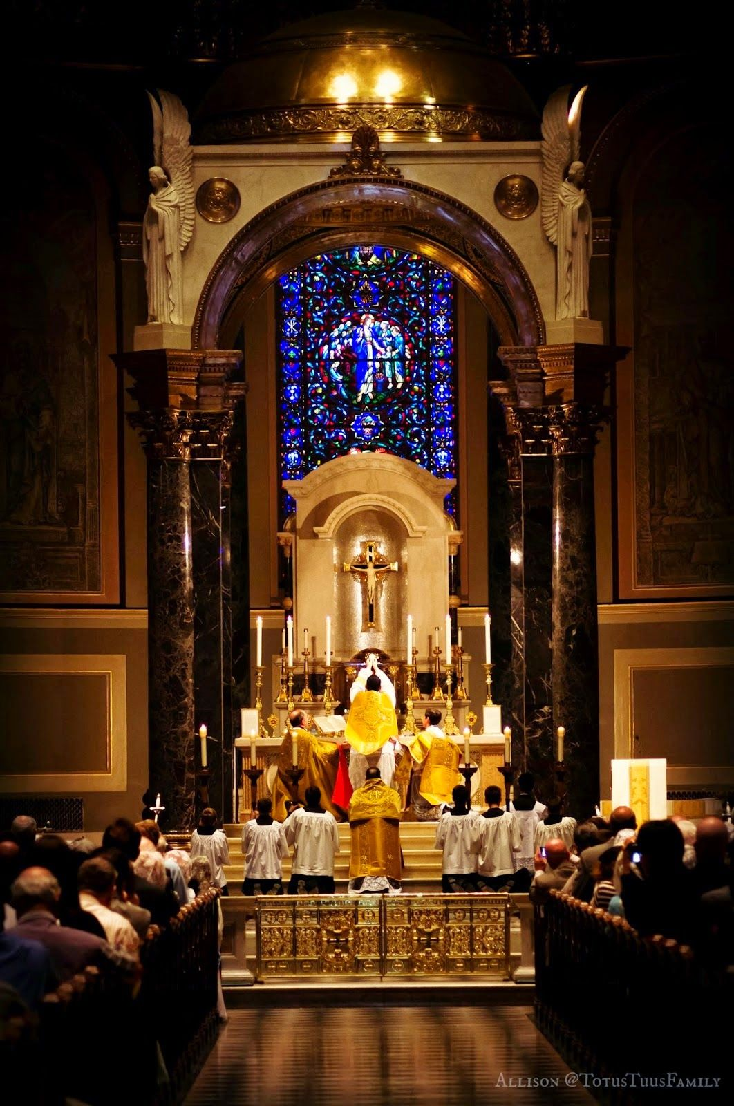 First Mass On Trinity Sunday At Saints Peter And Paul