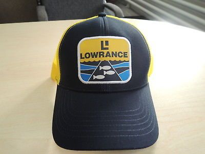 1f39878079fbb Clothing Shoes and Accessories 179978  Lowrance Retro Blue Yellow Bass Fishing  Hat Cap -  BUY IT NOW ONLY   15.73 on eBay!
