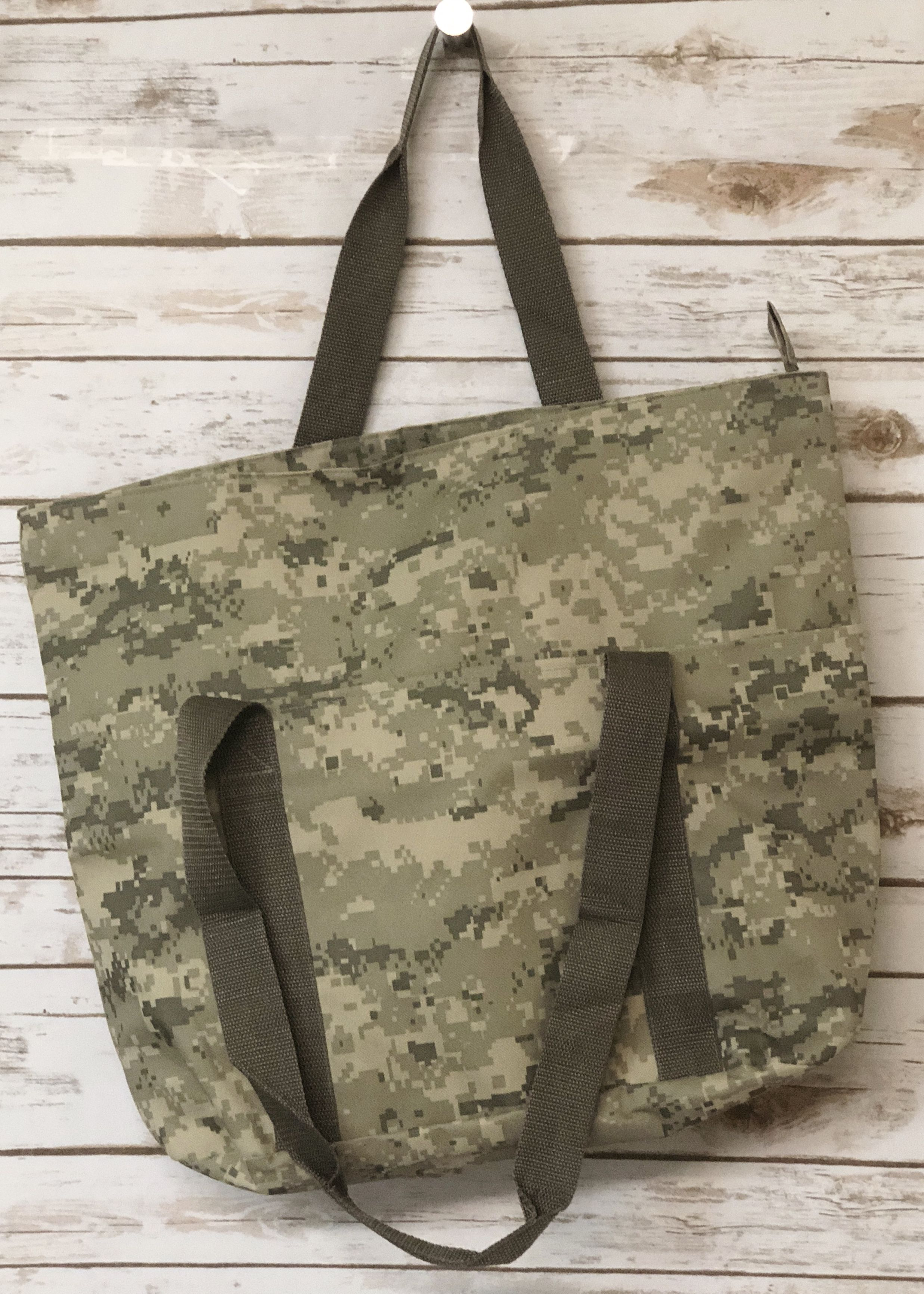 0190b5a72 Large Digi Camo Poly Tote Bag with Zipper WHOLESALE CHEAPEST FANCY TOTE BAGS  #totebag #