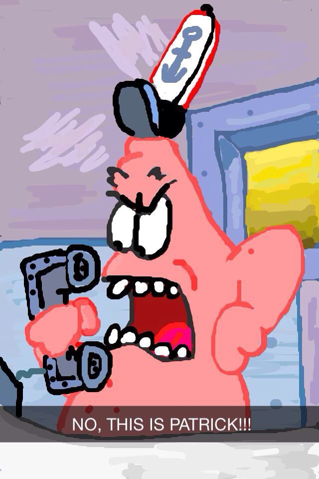 Patrick Spongebob Snapchat Art
