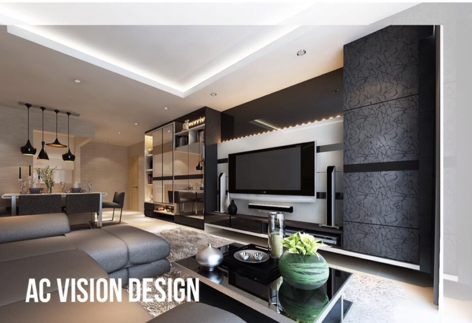Hdb bto 5 room 3d ideas interior design singapore for Living room interior design singapore