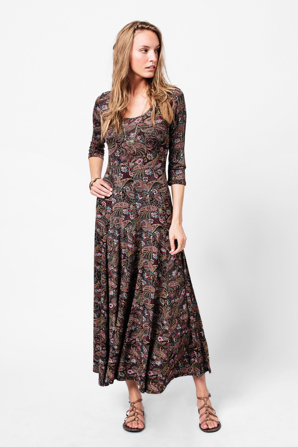 23fa090a6b97 Boho Paisley Maxi Dress - Women's - Earthbound Trading Co. | My ...