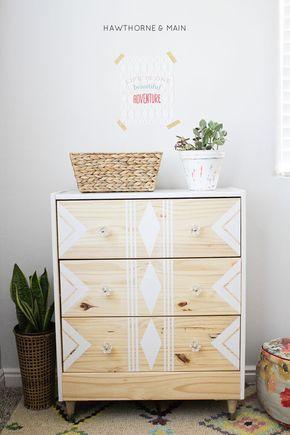 Réinventer ses meubles Ikea Masking tape Pinterest Ikea