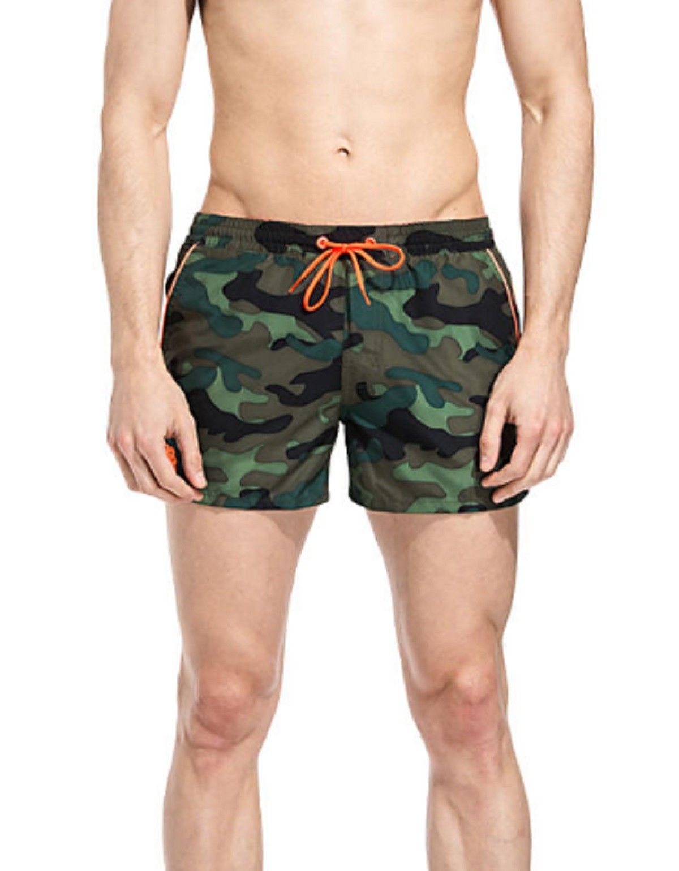Costume Sundek uomo m619bdp0153 497 elastic camouflage waist 13 deep forest rosco  corto ss17