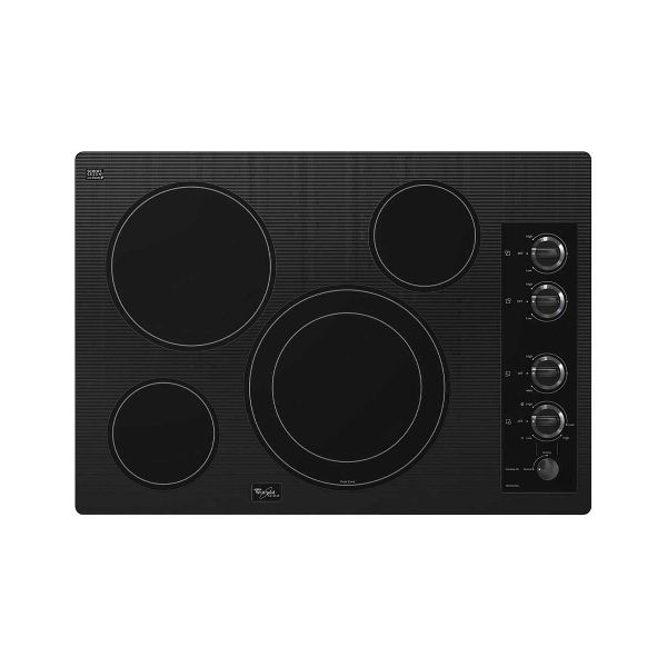 Whirlpool 30 Inch Electric Cooktop With Accusimmer Black Glass Cooktop Electric Cooktop Whirlpool