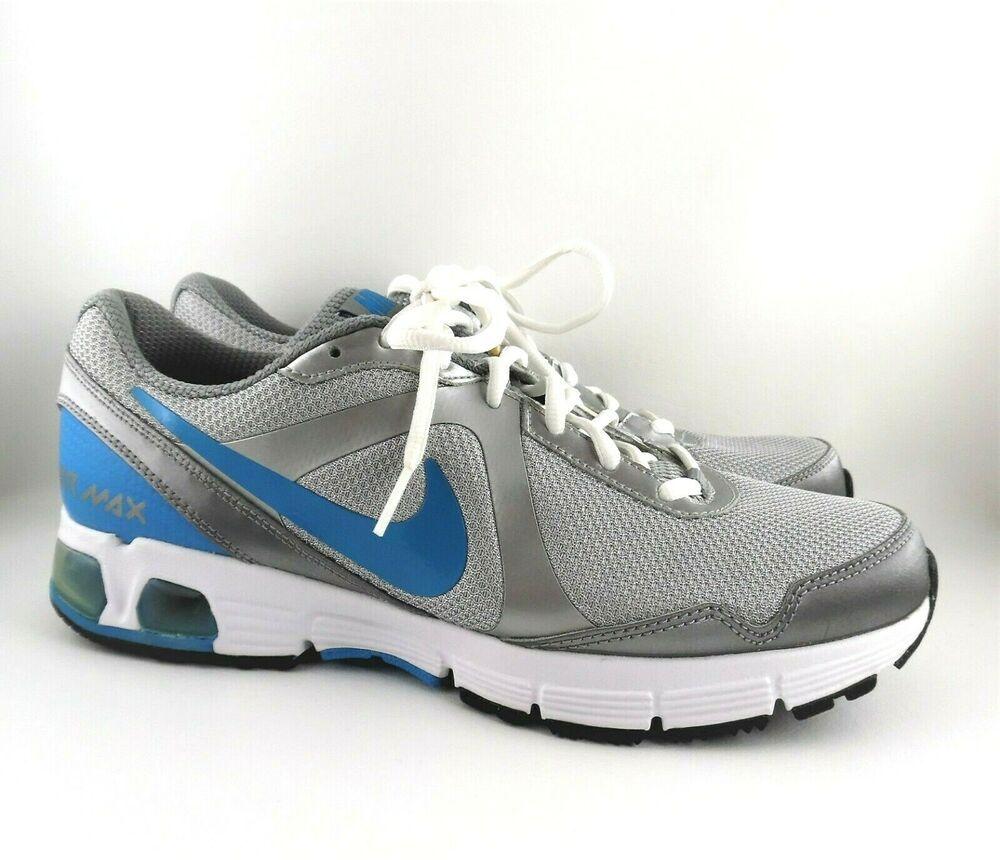 Nike Air Max Run Lite+ Silver Blue Running Shoes #386515 005
