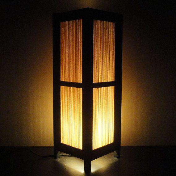 Asian Oriental Craft Bamboo Japanese Lamp Zen Bedside Lamp Floor