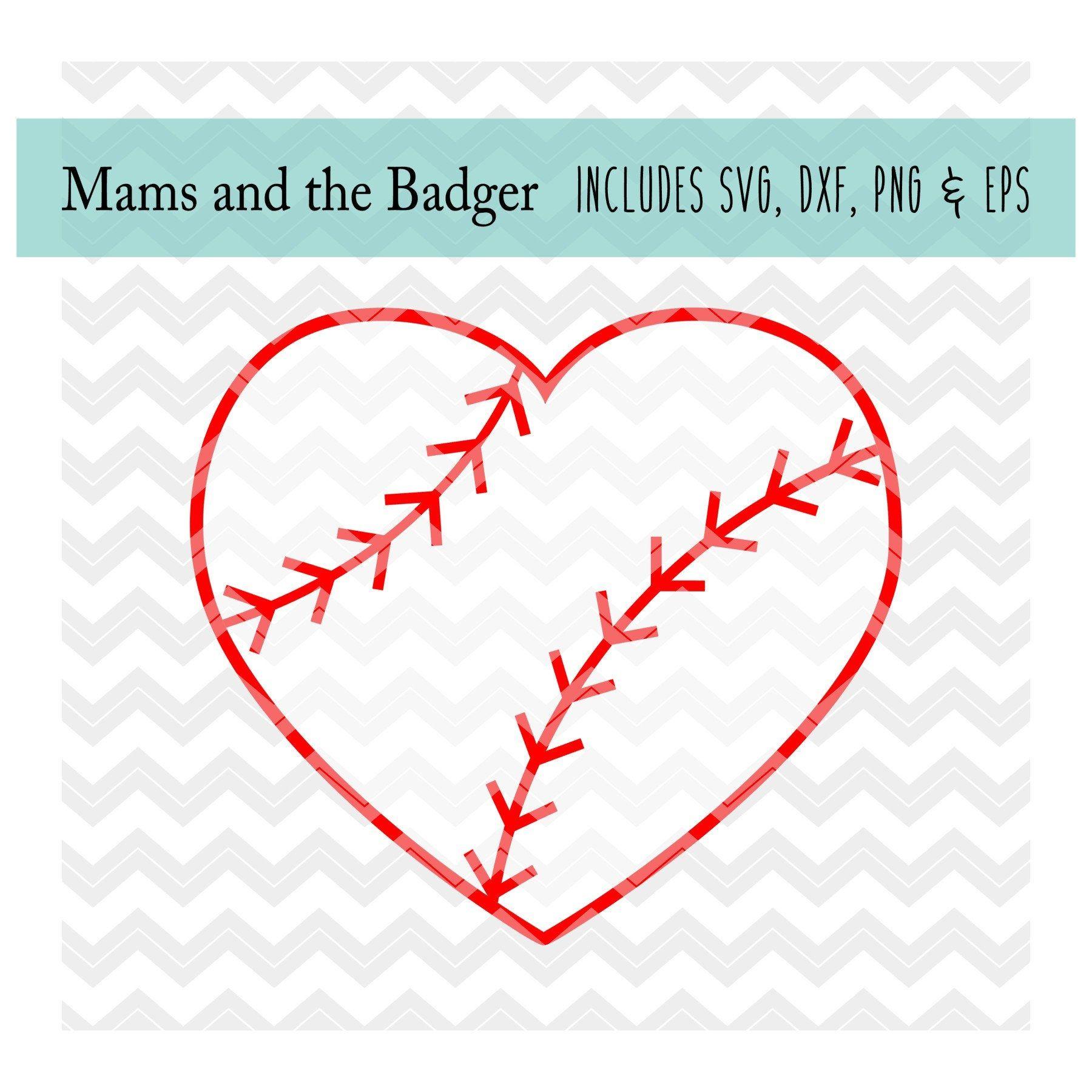 Download Baseball Heart svg, Baseball Love svg, Baseball Heart ...