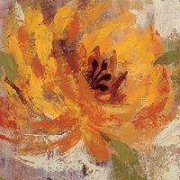 Framed Fiery Dahlias I