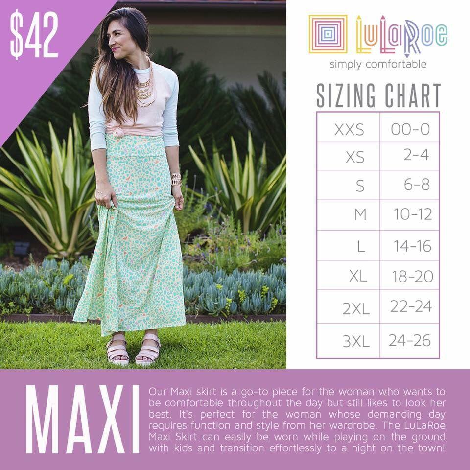 3415366d3346 The Maxi skirt | LuLaRoe | Lularoe maxi skirt, Lularoe sizing ...