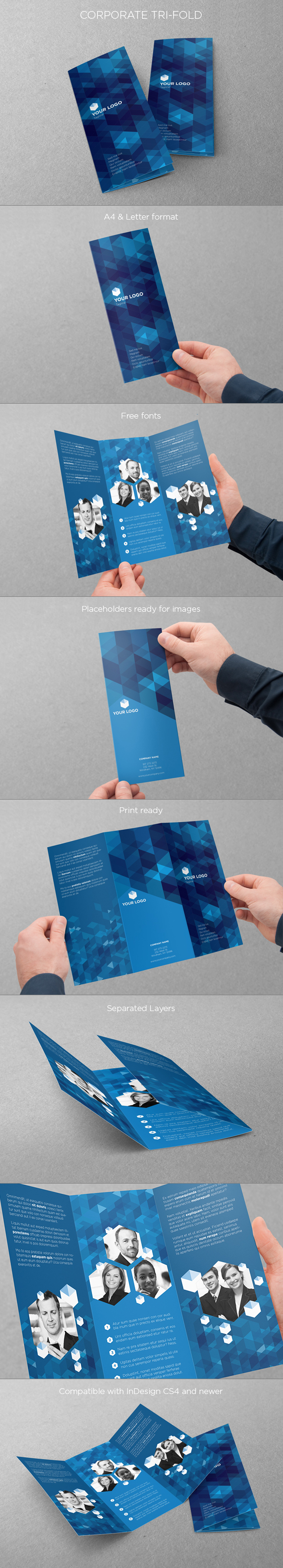 Business Trifold. Download here: http://graphicriver.net/item/business-trifold/4604625?ref=abradesign #design #trifold #brochure