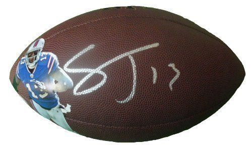 Stevie Johnson Autographed Custom Photo NFL Wilson Composite Football, Buffalo Bills, Proof Photo by Southwestconnection-Memorabilia. $169.99. This is a Stevie Johnson autographed custom photo NFL Wilson composite football. Stevie has signed the football in silver paint pen for us. Check out the photo of Stevie signing for us. Proof photo is included for free with purchase. Please click on images to enlarge. 1