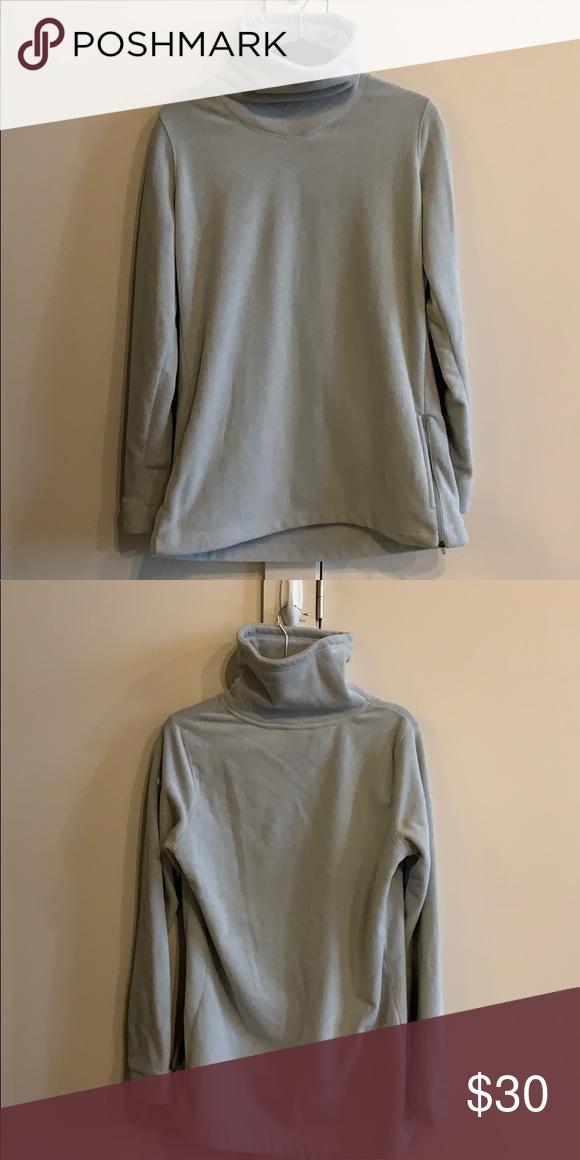 f4b652ae65e Nike fleece tunic Nike fleece tunic with pockets and side zipper. Dri fit  fabric. This top is a size large. Nike Tops Sweatshirts & Hoodies