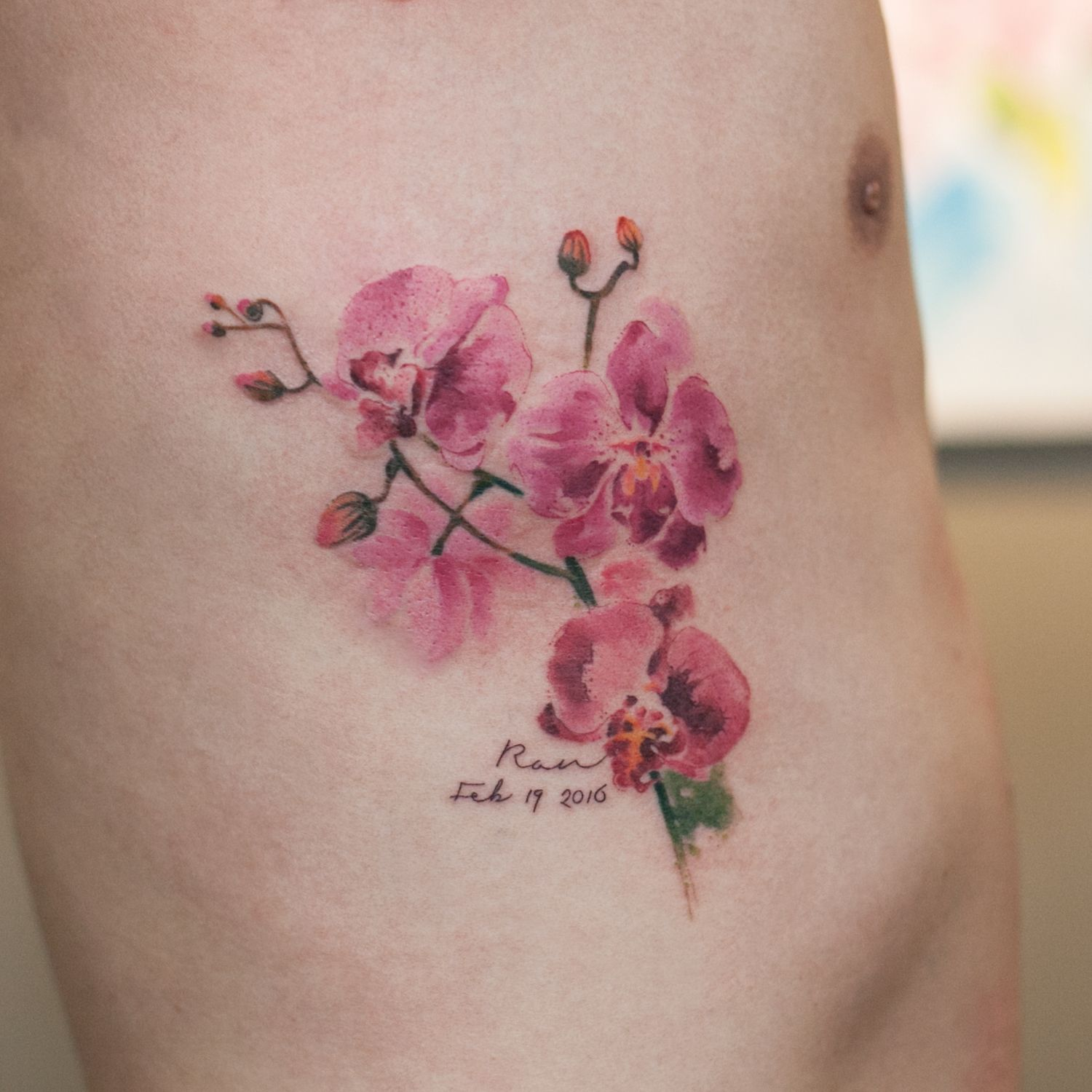 flower tattoo Orchid