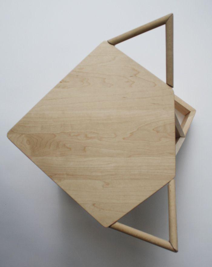 Projet étudiant  MIKKEL Stool par Iselin Lindmark Stools, Smoking