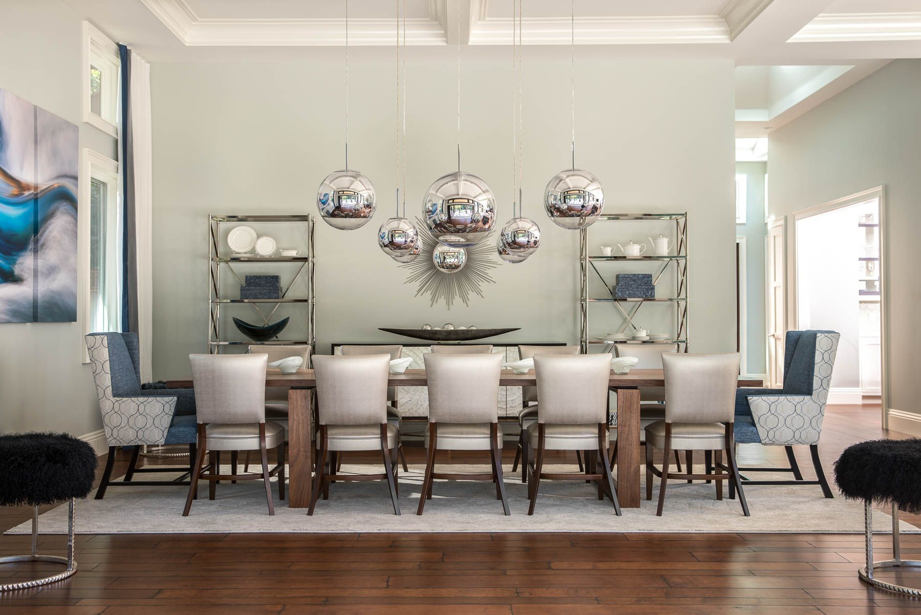 Saratoga California Modern Dining Room Contemporary
