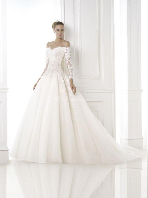 vestidos de novia con manga tres cuartos | dress <3 | long wedding