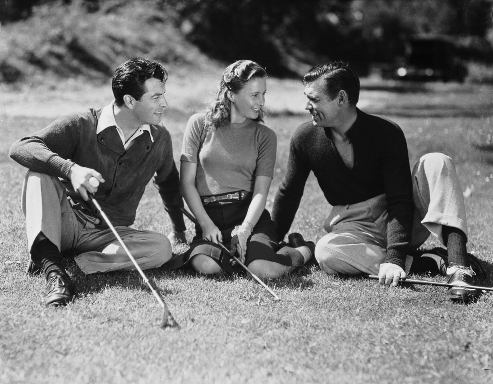 Robert Taylor, Barbara Stanwyck and Clark Gable, 1939