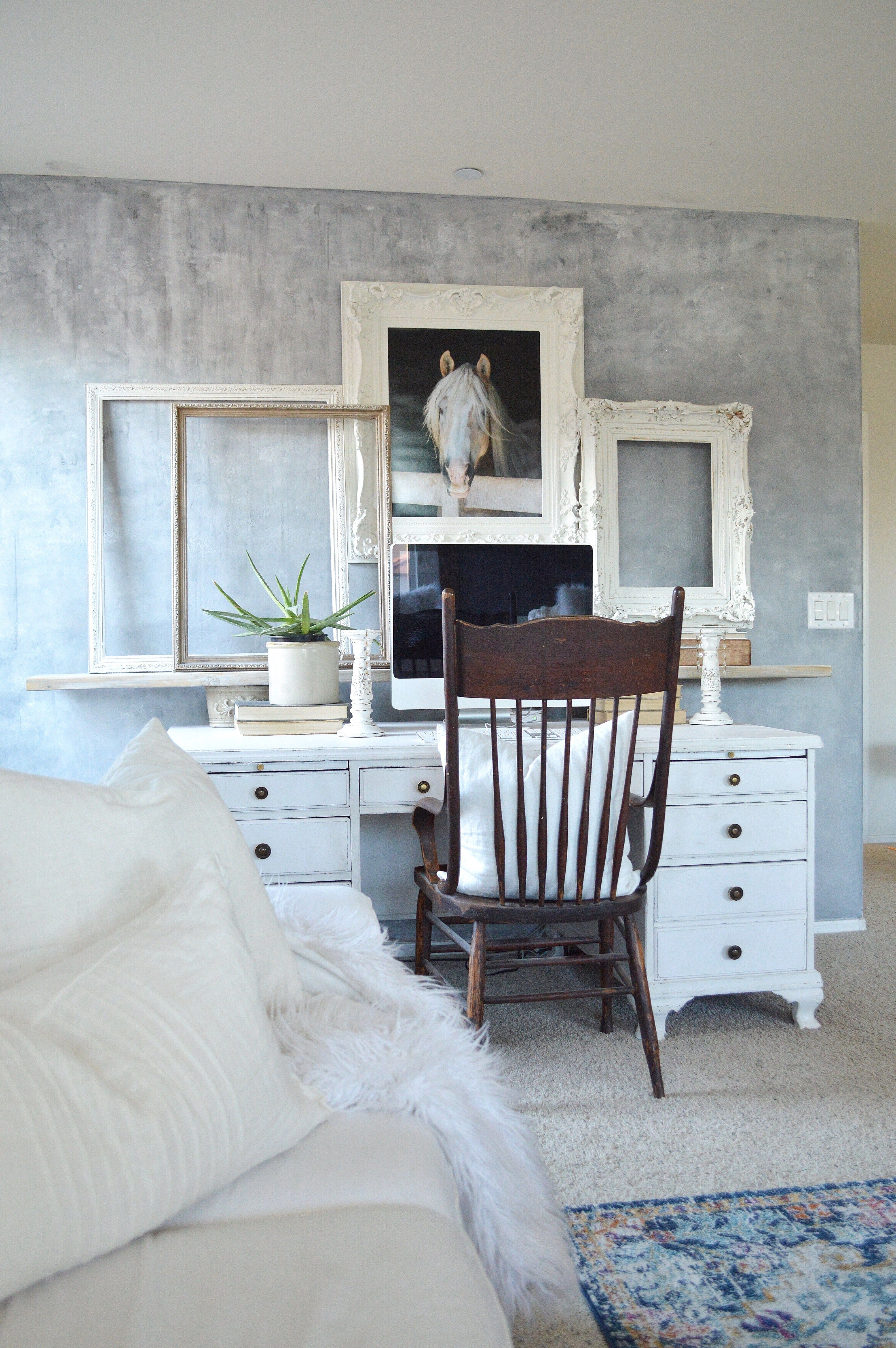 Painting A Wall To Look Like Concrete Concrete Walls Interior Concrete Walls Diy Concrete Walls Bedroom