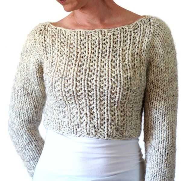 Photo of SILENCE : Sweater / Crop Top Knitting Pattern – Brome Fields