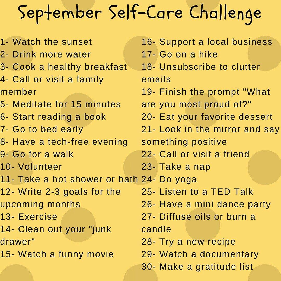 September health challenge