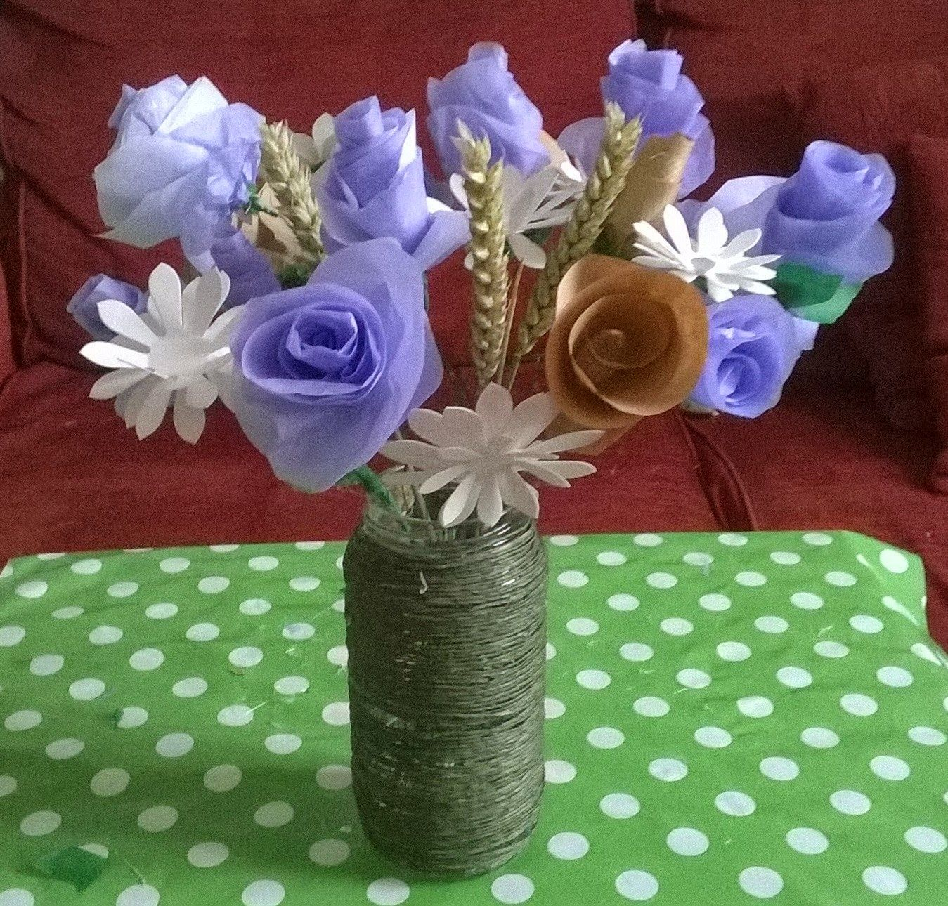 Big Blue Bed: A Country Paper Flower Bouquet - Tutorial | Things I ...