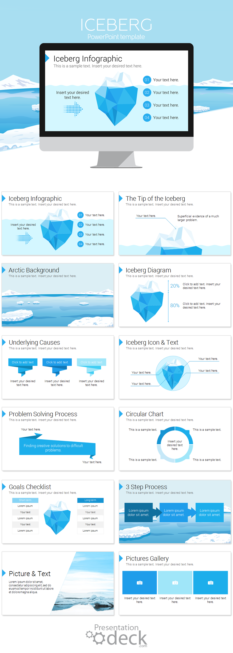 Iceberg PowerPoint Template | Infographics for PowerPoint ...