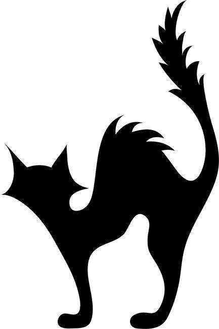 black cat stencil by crafty stencils catsilhouette. Black Bedroom Furniture Sets. Home Design Ideas