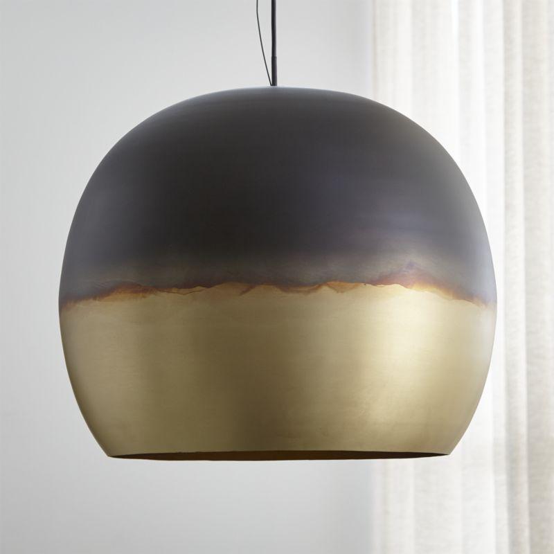 Shop Elara Metal Globe Pendant Light Industrial With An Artful