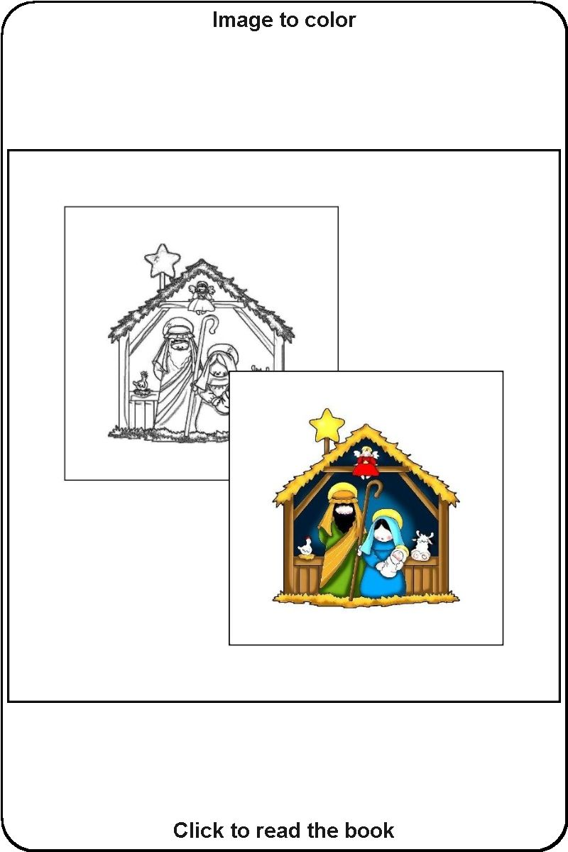 025 Sample Image From The Book The Coloring Book Of Christmas Christmas Coloring Books Toddler Coloring Book Coloring Books