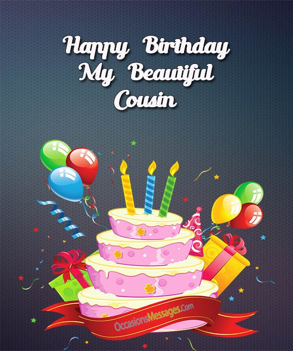 Birthday messages for cousin BIRTHDAY Pinterest – Birthday Greetings to a Cousin