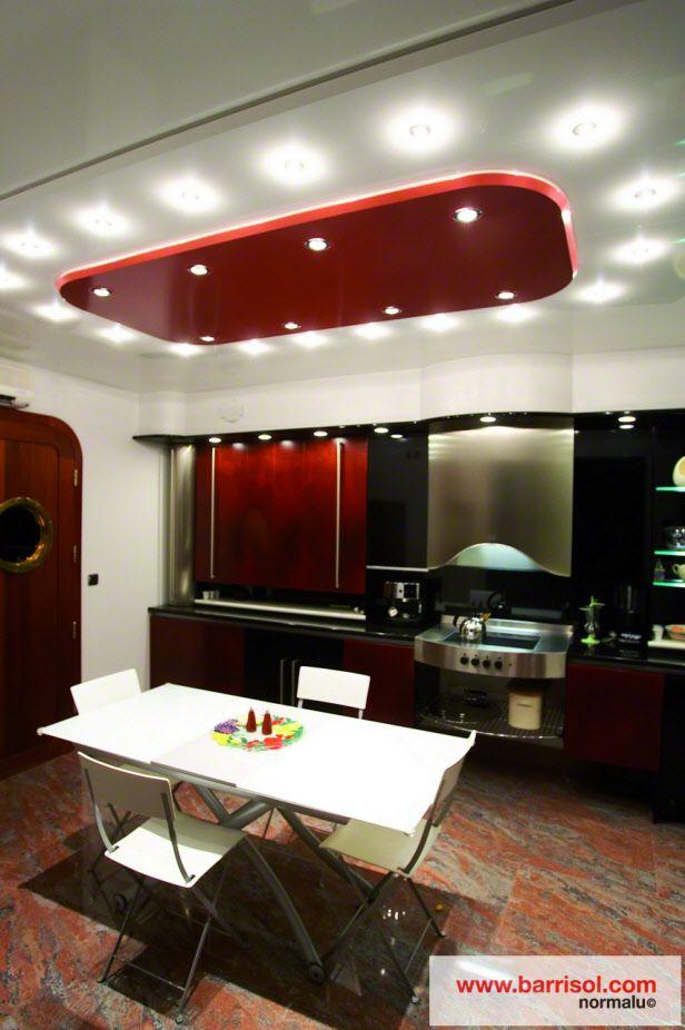 photos plafond tendu particulier : cuisine | faux plafond design