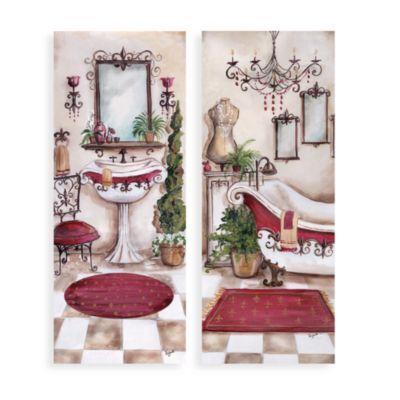 French Bath Wall Art Set Of 2 Bedbathandbeyond Com Laundry