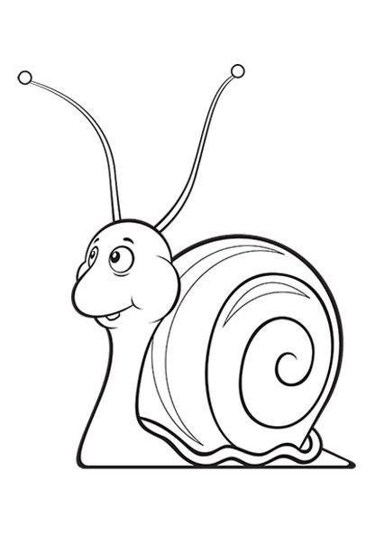 Snail Coloring Page Pagina Para Colorear Caracol Kleurplaten