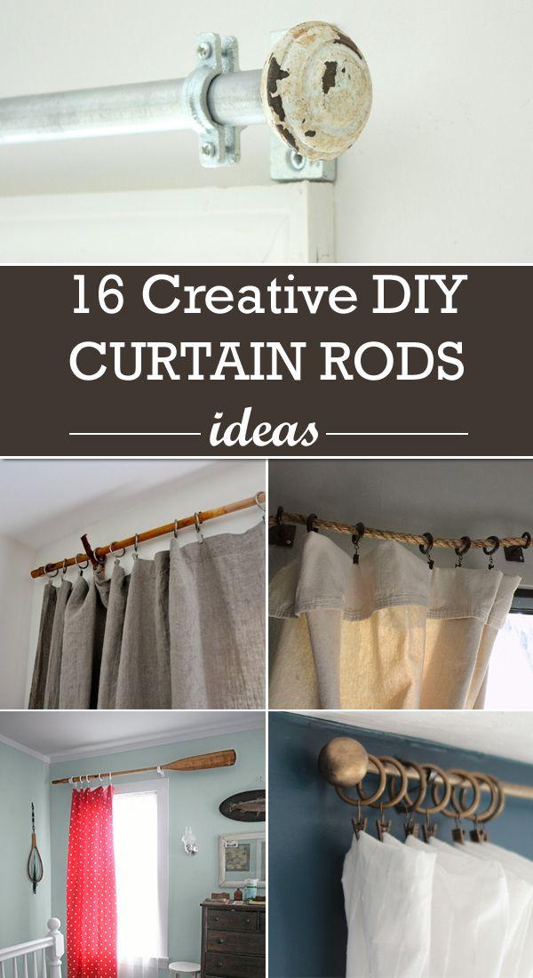 16 Creative Diy Curtain Rods Ideas Diy Curtain Rods Curtain