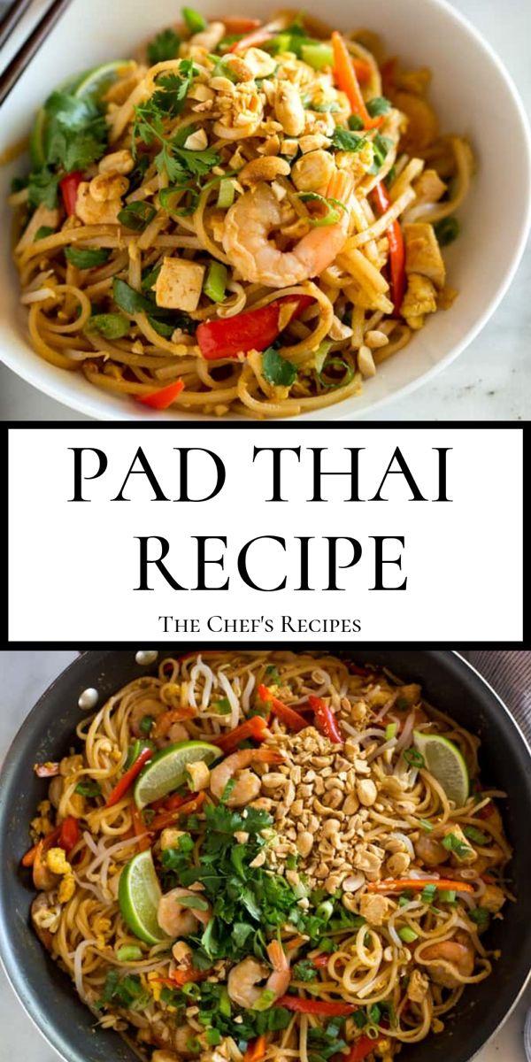 Pad Thai Recipe Asian Recipes Pad Thai Recipe Pad Thai