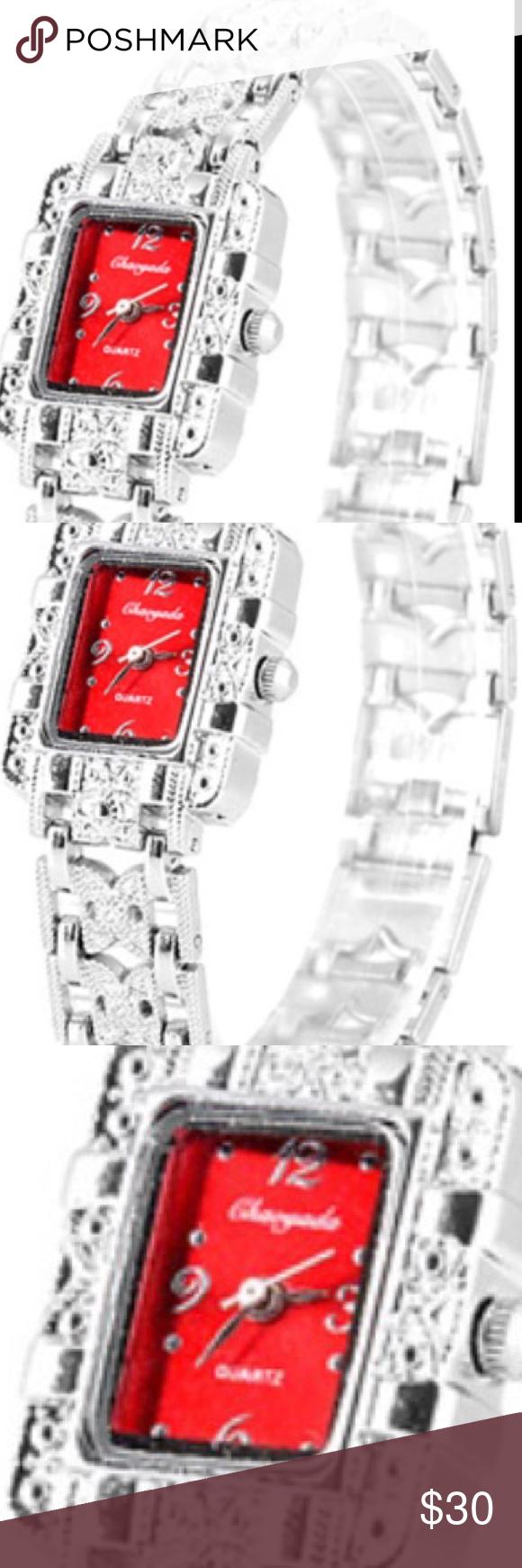 Square Analog Stainless Steel Bracelet Watch Square Analog