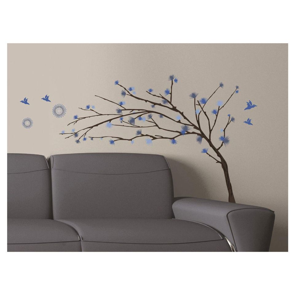 Art Applique By Kmg Blue Branches Decorative Wall Decal Beyond
