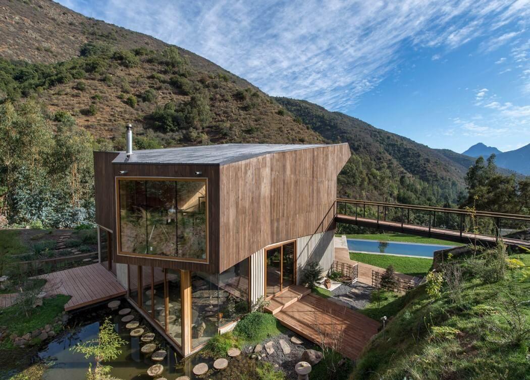 Zeitgenössisches Haus innerhalb eines Naturreservats in Chile ...