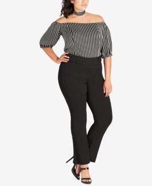 144fcec894 City Chic Trendy Plus Size Kick-Flare Pants - Black 16W | Products ...