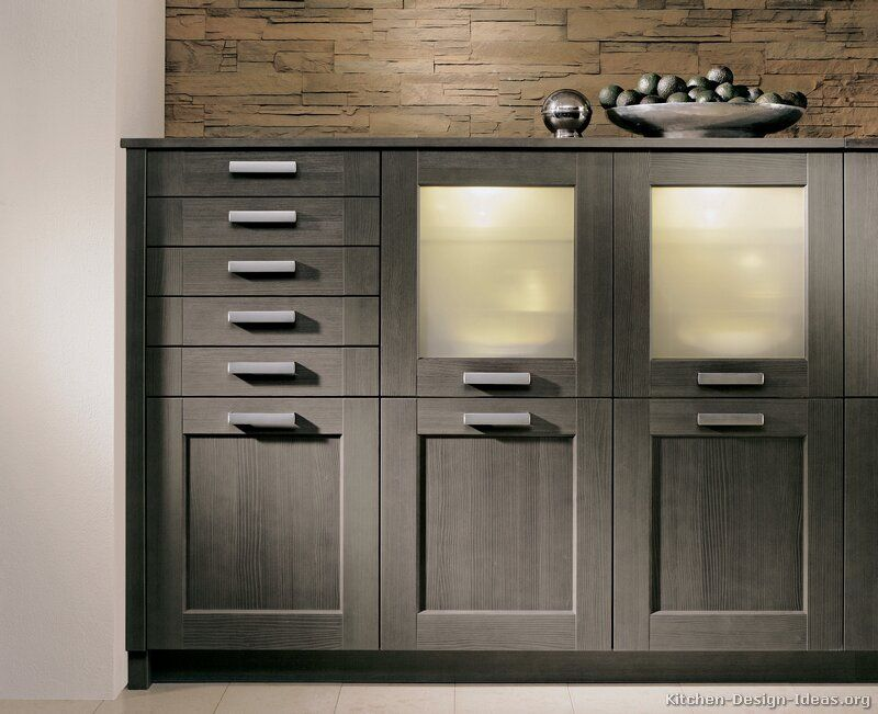 Best Kitchen Cabinets Modern Gray 006 A144B Painted Wood Glass 400 x 300