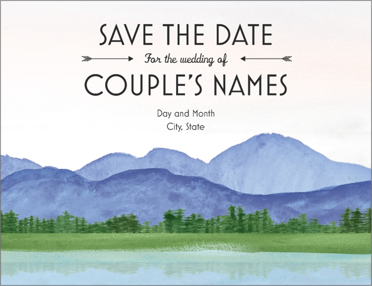 Save the Date Cards Wedding menu, Wedding save the dates
